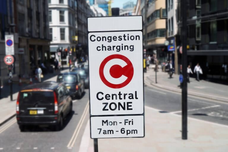 London Congestion Charge zone & Vision Zero