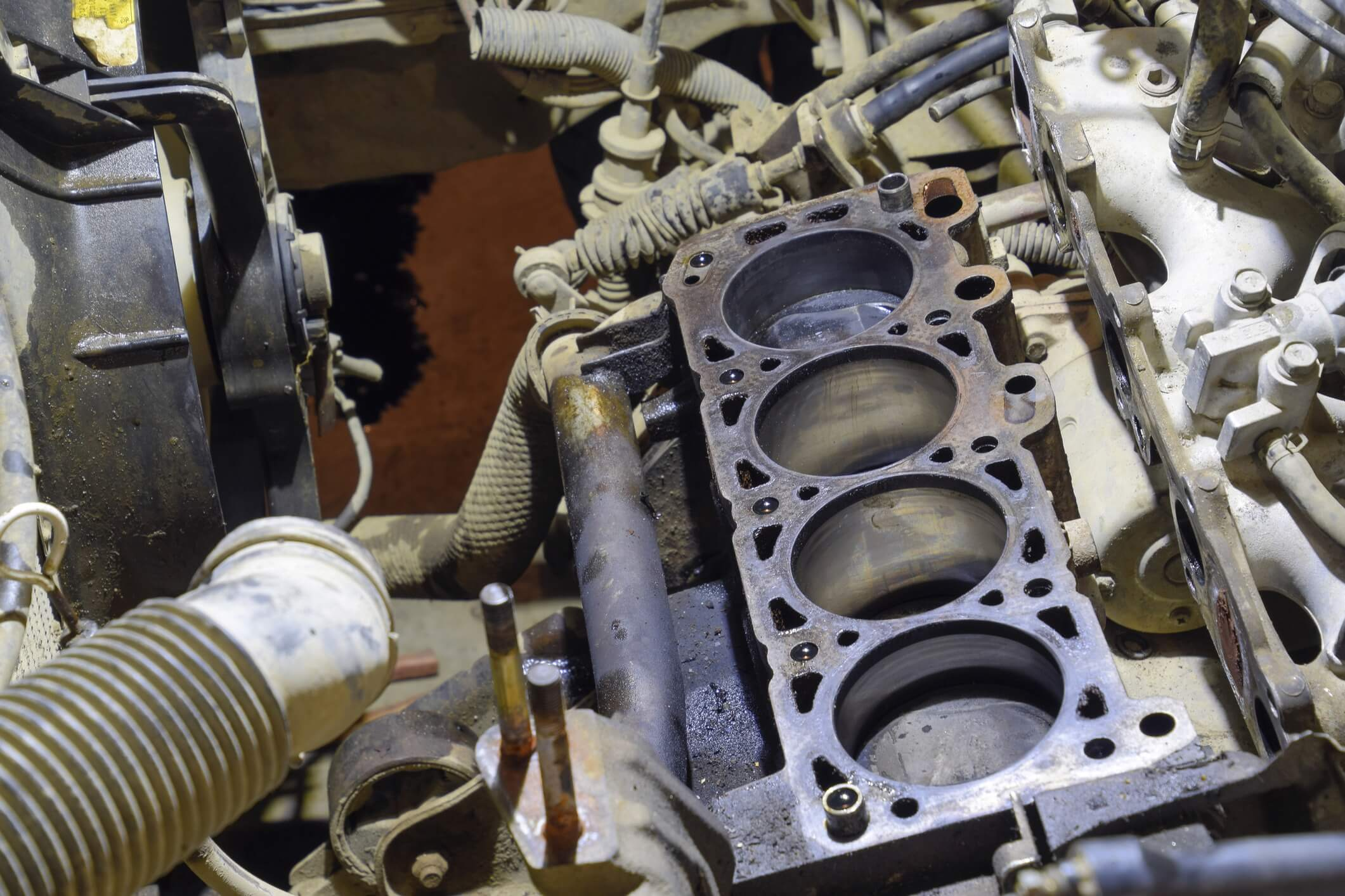 A blown head gasket